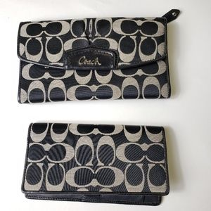 Coach Checkbook Cover & matching Wallet